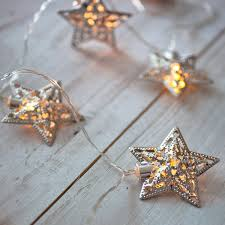 bedroom star lights 10 silver star battery operated led fairy lights by lights4fun