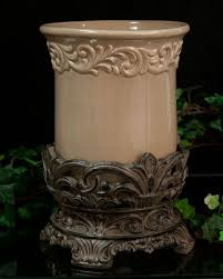 tuscan style kitchen canisters utensil holder drake design taupe tuscan kitchen decor tuscan
