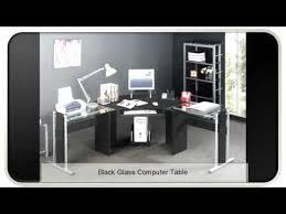 Black Glass Computer Desk Black Glass Computer Table Youtube