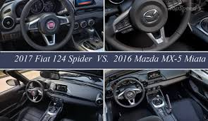miata msrp mazda mx 5 miata vs fiat 124 spider forum supercar exotic cars