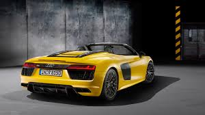 Audi R8 Back - 2017 audi r8 spyder cars back view hd wallpapers large hd wallpapers