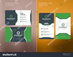 corporate business card print template personal stock vector