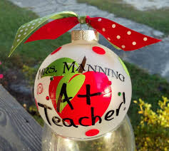 personalized christmas teacher u0027s ornament by southernaccentsetc