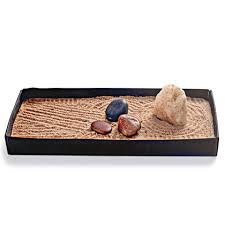 Tabletop Rock Garden This Tabletop Zen Rock Garden Lets Display A Collection Of