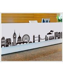 generic diy cityscape skyline wall stickers vinyl decals art home