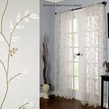 Embroidered Sheer Curtains Venice Embroidered Sheer Curtain Panel