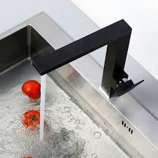 matte black kitchen faucet contemporary square styled solid brass matte black kitchen faucet
