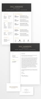 resume business cards free minimal resume cv design template with cover letter