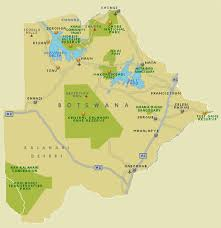africa map kalahari botswana national parks reserves kalahari tours and