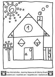 shapes coloring pages math house math coloring sheets for kids