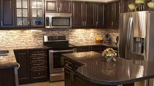 Dark Grey Kitchen Cabinets by Dark Kitchen Cabinets Backsplash Ideas Glass Front Upper Cabinet