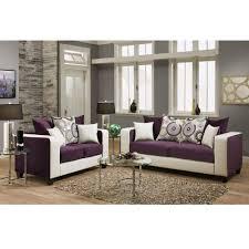livingroom ls flash furniture riverstone implosion purple velvet living room set