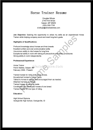horse trainer cover letter birth certificate word template