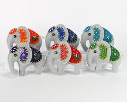 handmade felt elephant ornament elephant ornament