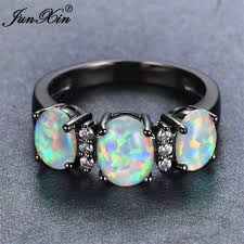 Opal Wedding Rings by Junxin 2017 New Fashion White Fire Opal Engagement Ring Vintage