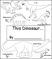 dinosaur early reader book enchantedlearning