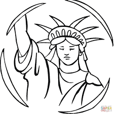 statue of liberty coloring page free printable coloring pages