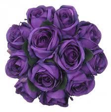 purple roses for sale brides purple silk wedding posy bouquet s flowers