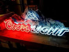 coors light sign amazon new coors light led color changing neon beer pub sign light for man