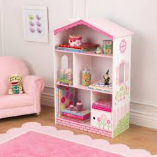 Pink Bedroom Furniture by Bedroom Charming Kidkraft Dollhouse Bookcase In Natural Wood With