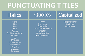 quote lecture mla do you punctuate titles in italics or quotes