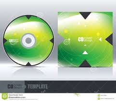 Cd Cover Design Template Set 1 Stock Vector Illustration Of Label Free Cd Template