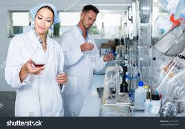 Lab Chemist Young Woman Expert White Coat Checking Stock Photo 541513057