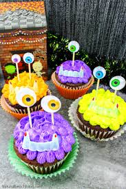 Monster Halloween List by Easy To Make Halloween Monster Cupcakes Natural Beach Living
