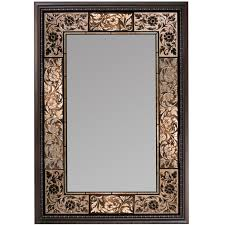 quoizel qr11681 sloan 30 oval wall mirror in gold tones framed