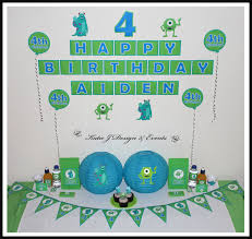 Monster Inc Decorations Shop Online Personalised Monsters Inc Party Decorations U2013 Katie J