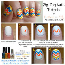 nailed it nz nail art for short nails 3 zig zag nails http
