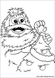 abominable snowman coloring pages getcoloringpages