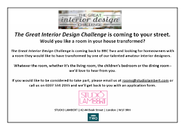 interior design tv show looking for bournville contributors