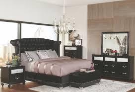 barzini black upholstered queen upholstered platform bedroom set