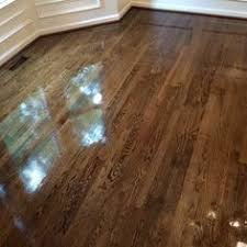 minwax color guide stain sles on a white oak floor from top