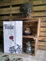 bicycle wall art rustic home decor farmhouse decor sign