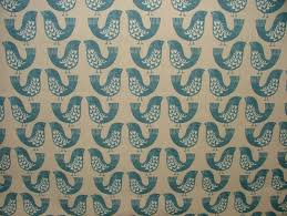iliv blue scandinavian scandi birds designer curtain
