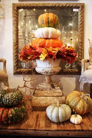 Decorating With Fall Leaves - decorating with pumpkins and gourds urn leaves and display