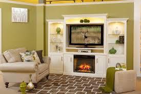 Electric Fireplace Entertainment Center Park Fireplace Entertainment Center With Optional Bookcases