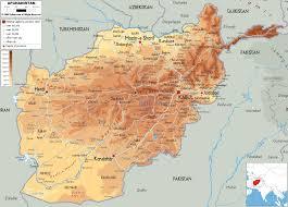 Hindu Kush Map Physical Map Of Afghanistan Ezilon Maps