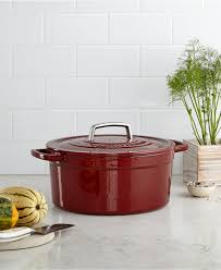 martha stewart kitchenware and accessories macy s registry martha stewart collection collector s enameled cast iron 6 qt round casserole created for macy s
