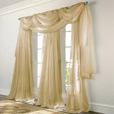 sheer window treatments elegance voile bisque sheer curtain bedbathhome com