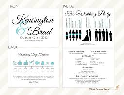 wedding day program pdf silhouette wedding program the kensington
