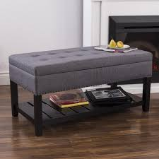 Upholstered Storage Bench Ksp Conrad Upholstered Storage Bench Grey Kitchen Stuff Plus
