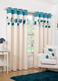 Teal Curtains Eyelet Teal Ready Made Curtains