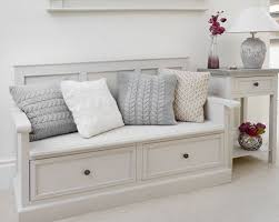 Bedroom Excellent Storage Bench White With Pillow Entryway In Seat