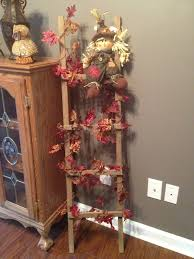 fall leaves on tobacco stick ladder thinking about doing this