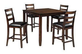 counter height dining room sets signature design by ashley coviar 5 piece counter height dining