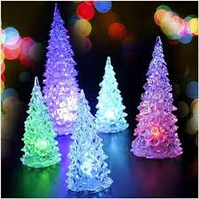 mini christmas tree with lights led glow in dark artificial mini christmas tree with colorful lights