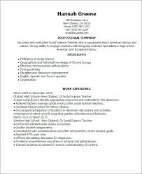 sample resume for science teachers best resume collection